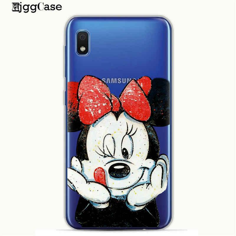 Cute Mickey Minnie For Samsung Galaxy A30 Phone Cover Case For Samsung A10 A20 A30 A50 A70 Case A6 A8 A7 A9 2018 Cover Bags Capa