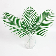 15pcs artificial plastic leaves green plants fake palm tree leaf greenery for floral flower arrangement wedding decoration - Palm Tree Christmas