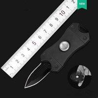 Fidget Spinner-cuchillo plegable portátil multifunción para exteriores, Spinner de mano EDC, Mini herramientas de defensa personal, regalo de sable