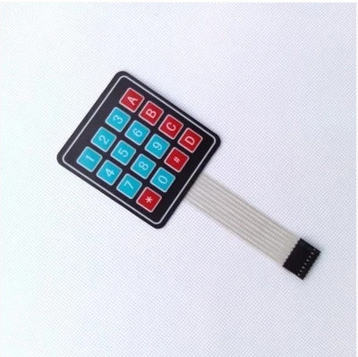 5PCS/LOT 4 x 4 Matrix Keypad Membrane Switch 8 pins connector SCM Outside enlarge Keypad For Arduino