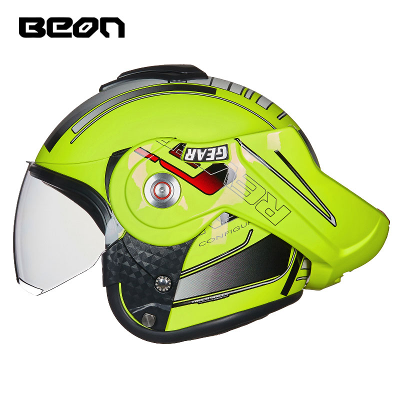 2018 BEON T702 Racing motorcycle Helmet flip up MOTO open face dirt biker motorbike motocross off road safety helmets