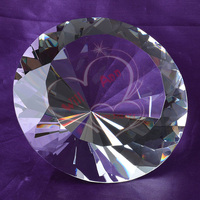 Feng Shui 150mm Transparent Crystal Diamond Big Stone Jewelry Home Decoration