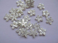 high quality 10mm 50pcs MOP shell mother of pearl florial flowers petal cup wite cabochons beads