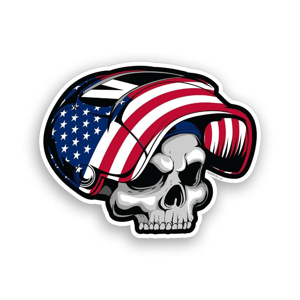 USA Welder Skull Sticker Hard Hat Helmet Flag Toolbox US Car Window Bumper Decal 4 tall by 5 wide.