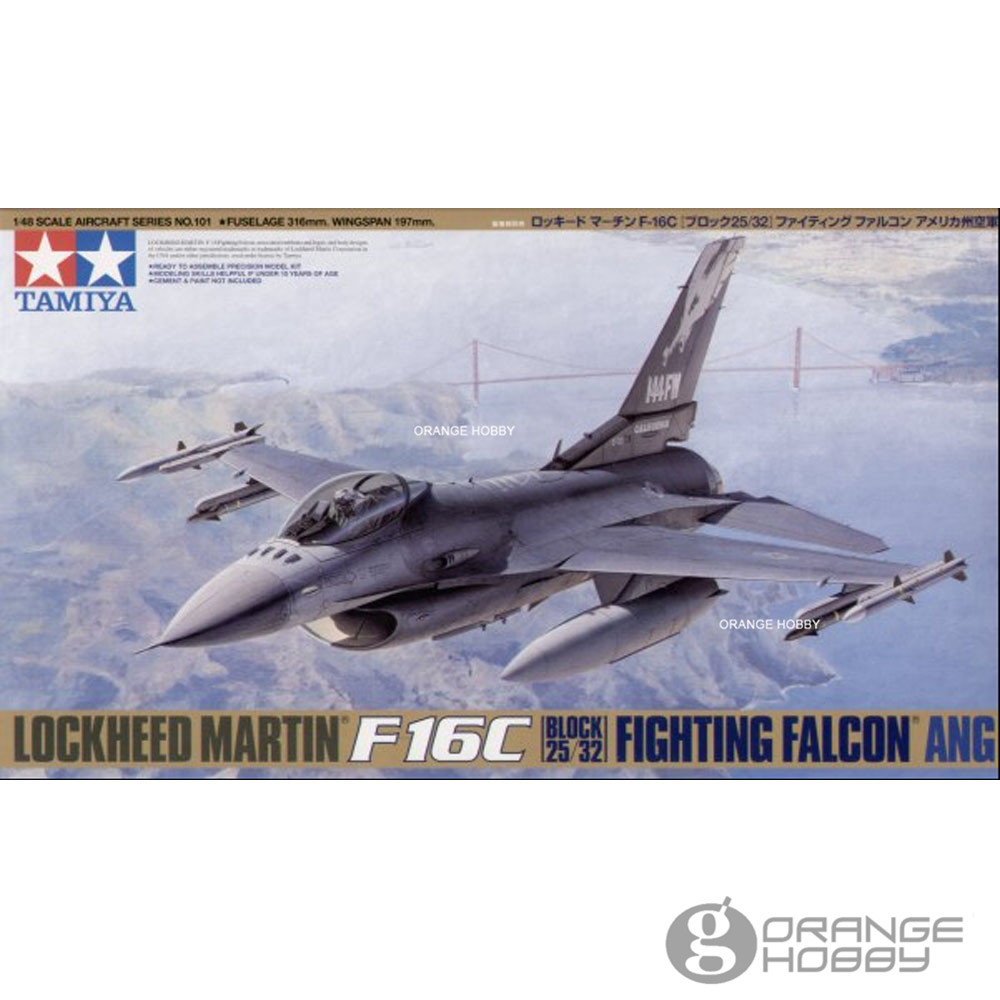 OHS Tamiya 61101 1/48 F16C Fighting Falcon ANG Assembly Airforce Model Building Kits oh цена