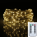 39FT 12m 240led 8Modes Chrismas Lights 6AA Battery Operated Decoration Garden Tree Flowers Silver Wires Fairy String Light