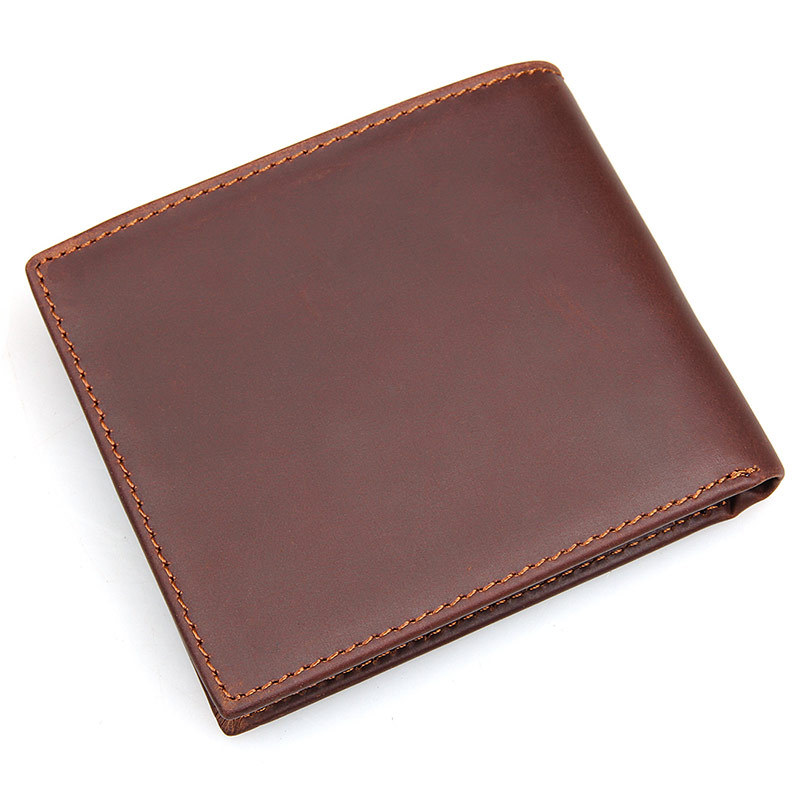 Brand High Quality Genuine Leather Men Short Coin Purse Small Vintage Wallet Cowhide Card Holder Pocket high quality men genuine leather organizer wallet vintage cowhide clasp card holder coin purse vintage carteira masculina 1011