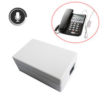 Portable Mini Telephone Digital Voice Recorder Monitor Landline Audio Sound Dictaphone Business Phone Recording Device