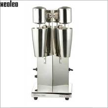 Xeoleo máquina Batido Batido De Leche De Acero Inoxidable de Doble Cabezal De La Máquina Bebida mezclador de Hacer Espuma De Leche/Batido Máquina de Té de la Burbuja
