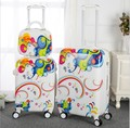 "13""16""20""24 inch spinner PC cabine rolling luggage set trolley travel suitcase set"