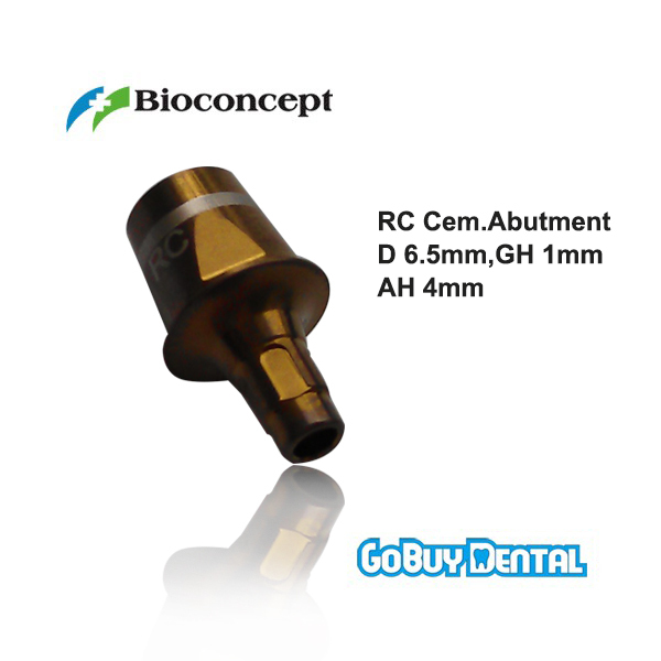 все цены на Straumann Compatible Bone Level RC Cementable abutment, d 6.5mm, Gingiva height 1mm, Abutment Height 4.0mm онлайн