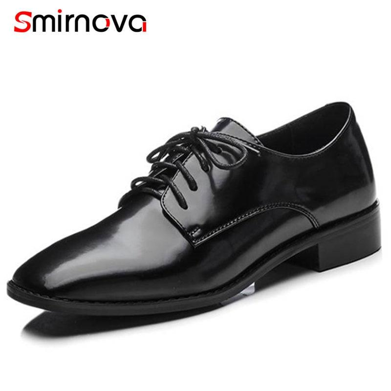 1 Nuevo Black black 2018 Cuadrado Casuales Zapatos Deslizamiento Genuino Costura Verano Tacones Mujeres En 2 Moda Cuero Bombas Bajo Smirnova De RdHnHfT