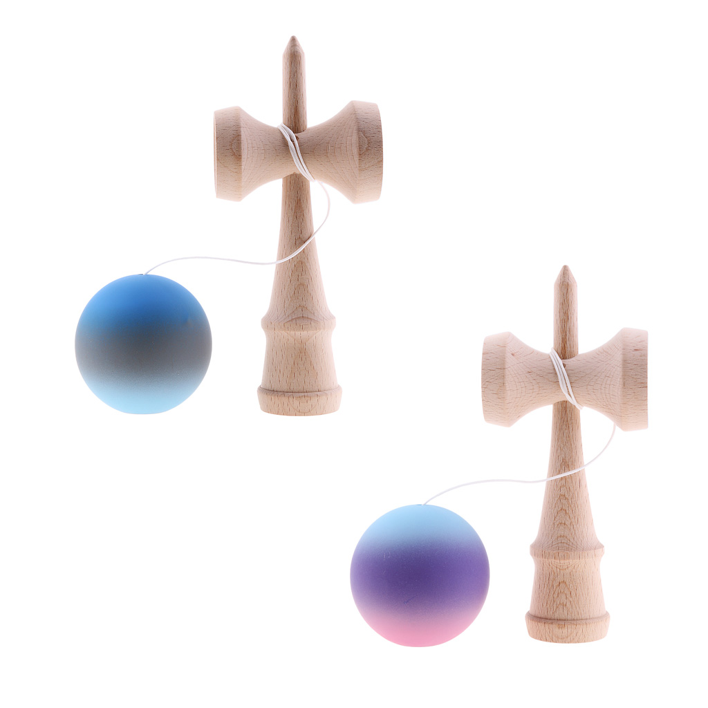 2Pcs/Pack Kendama Japanese Traditional Ball Wooden Cup Stick Game Playing Props Kids Outdoor Sports Toy Gift