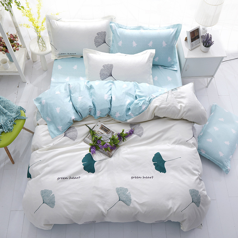 Power Source Cute Kitty Cat Deep Blue Stripe 4pcs Bedding Set Full King Queen Double Size Duvet Cover 1.5m 1.8m 2.0m 2.2m Bed Sheet Bedlinens