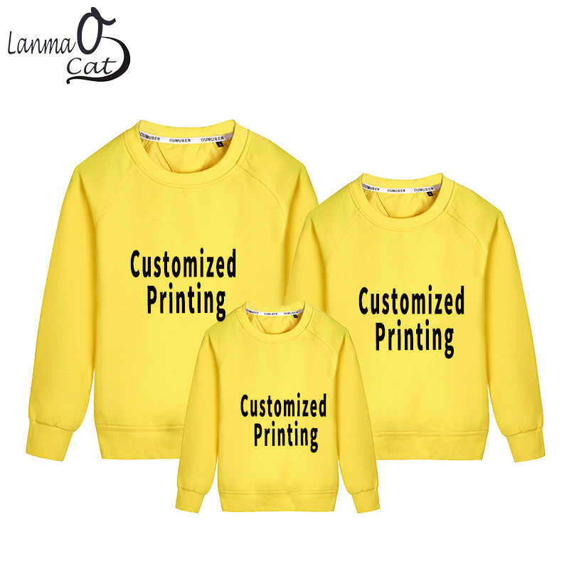 Detail Feedback Questions about Lanmaocat Family Matching Clothes Dad Mom  Kid Long Sleeve T Shirts Custom Printed Family Clothes Personal T Shirts  Free ...