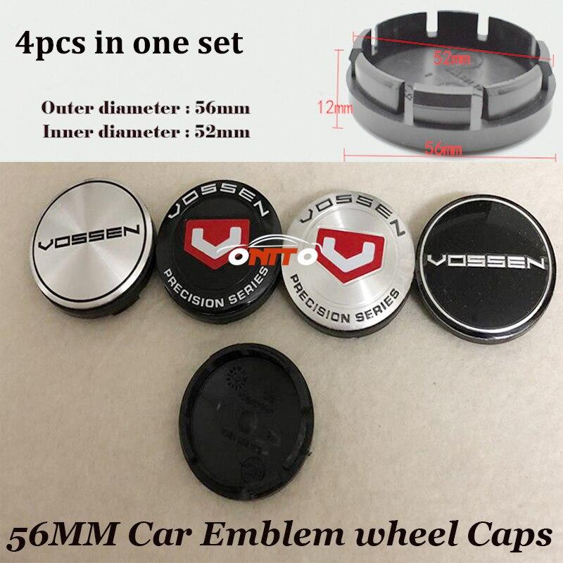 4pcs set of 56mm 2 20inch ABS Label Car Emblem badge Wheel hub Caps Car Stickers