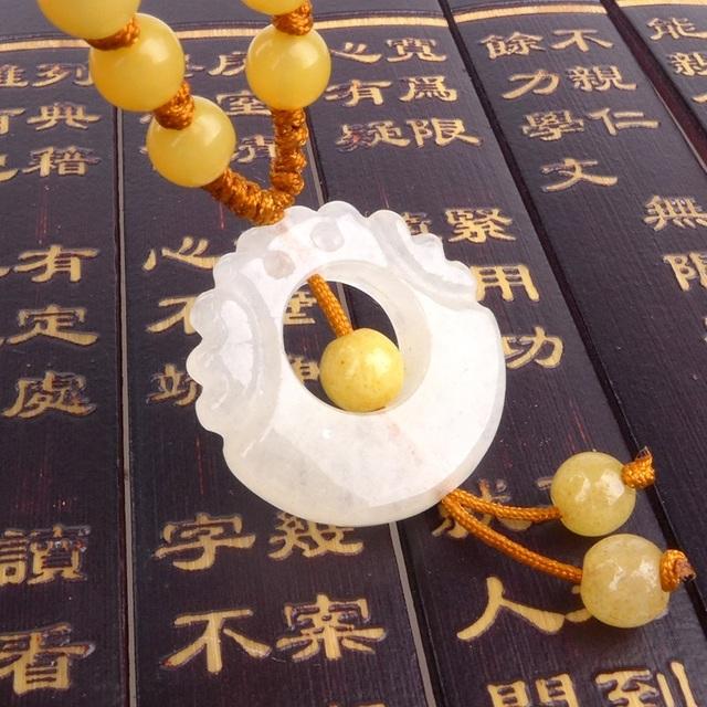 Longo Yi Ssangyong talão transporte colar pingente acessórios para vestir 8060018 mascotes