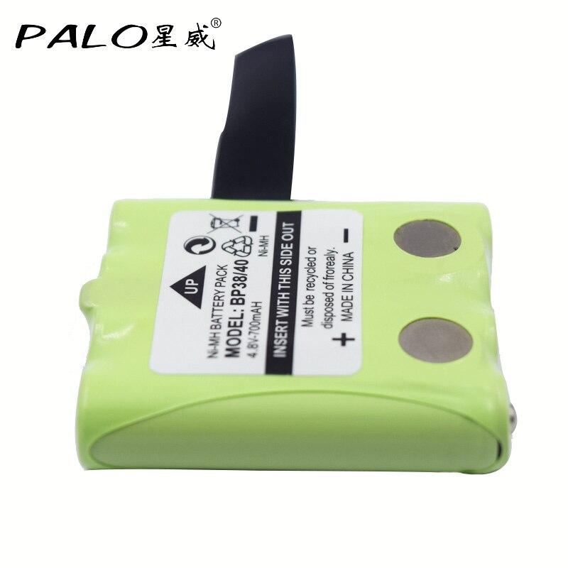 PALO 4.8 V 700 mAh NI-MH Bateria Batterie Pour Uniden BP-38 BP-40 BT-1013 BT-537 Pour MOTOROLA TLKR T4 T5 T6 T7 T8 GMR FRS batteries