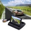 """4.3 """"polegadas TFT COLORIDO LCD Dobrável Monitor Do Carro Reversa Espelho Rearvie Carro Monitor de Segurança para Camera DVD VCR"""