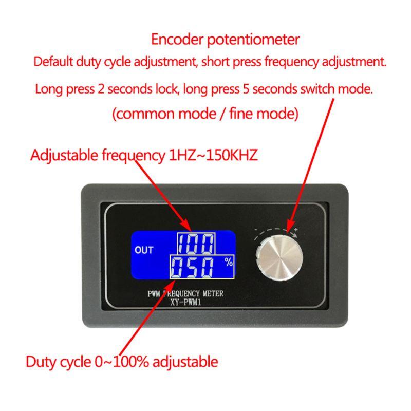XY-PWM1 Signal Generator Modul Einstellbar PWM Pulse Frequenz Duty Zyklus Platz Welle Motor Controller