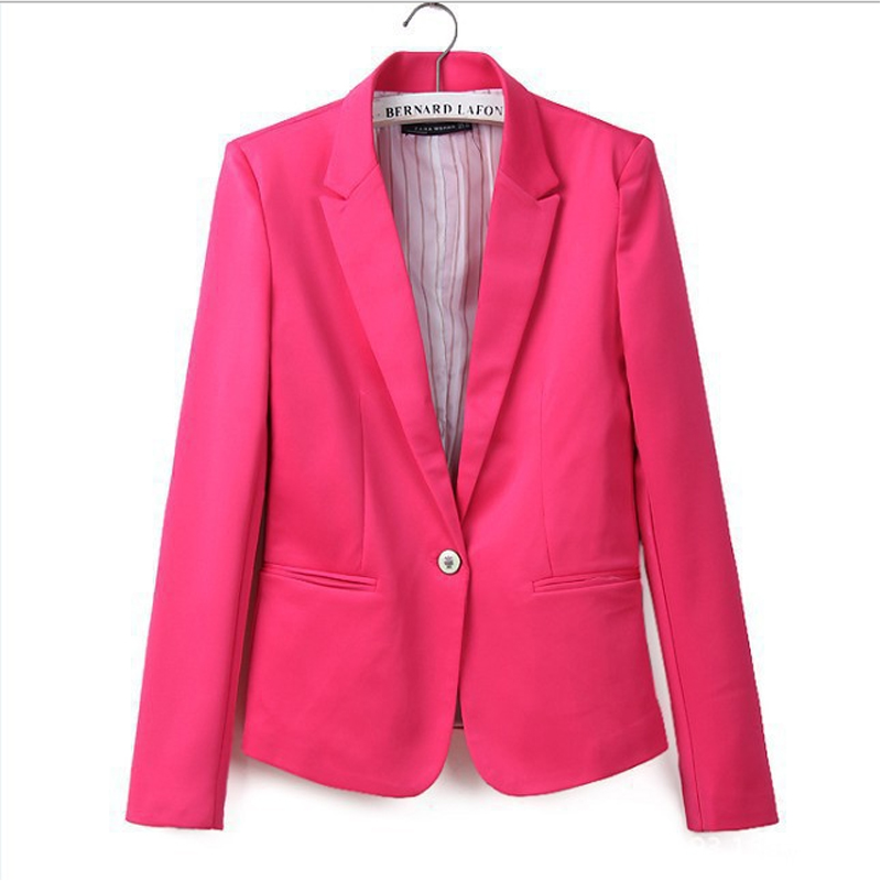 stylish comfortable women's Blazers Candy color lined suit