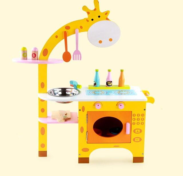 giraffe furniture. Baby Toys Giraffe Kitchen Wooden Furniture Set Simulation / Food Assemble Play House