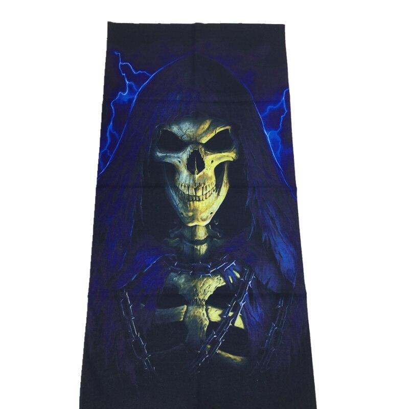 3D Череп Скелет бесшовная Бандана Балаклава головная повязка мотоциклетный головной убор Байкер волшебный платок труба Шея рыболовная вуаль маска для лица - Цвет: TA143