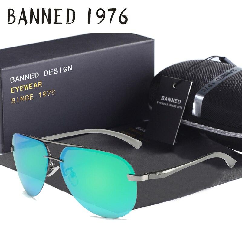 Aluminum magnesium HD polarized aviation font b Sunglasses b font women men driving sun Glasses vintage