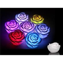 Nueva Apresurado Llevó Los Juguetes Juguetes Cesta Lumineuse Led Que Cambia de Color Flota a Rose Florece Juguetes Fiesta de Accesorios