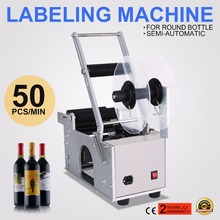 цена на Manual labeling machine label sticker machine Semi-Automatic Glass Round Bottle labeling machine MT-50(Bottle OD:15-100MM)