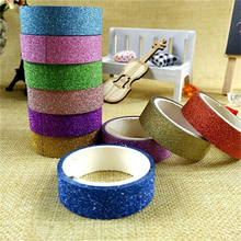 10 Rolls lot 3M Craft Glitter Washi Tape Book Decoration DIY Adhesive Paper Scrapbook Sticker Random