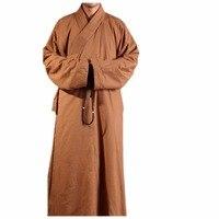 ZanYing средневековый костюм монаха буддийский хлопок халат для мужчин зимние свободные наряд ZYS195