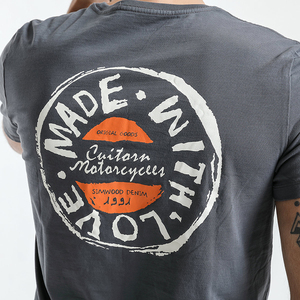 Image 5 - SIMWOOD T Shirt erkek 2020 ekip boyun yaz yeni grafik baskı moda Slim Fit TShirt yüksek kalite artı boyutu rahat tops 180044