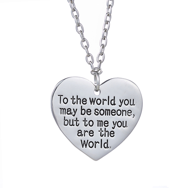 Birthday Gift For MOM Girl Friend You Are My World Heart To The May Be Someone But Me Worldnecklace