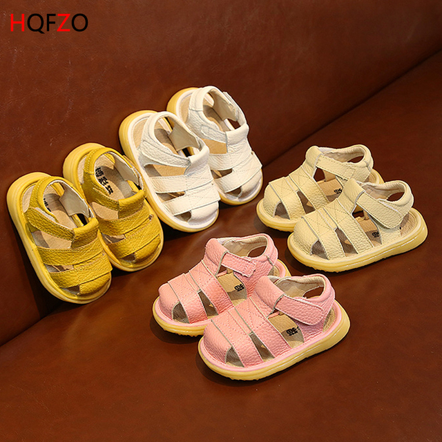 2019 new close toe leather baby toddler shoes sandals soft bottom princess male baby child children summer shoes wholesale