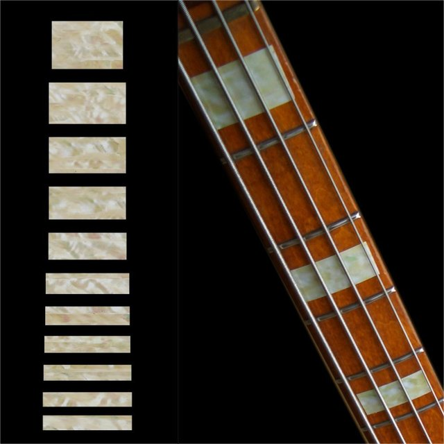 Gothic Line//DS White Pearl Inlay Sticker for Guitars /& Bass