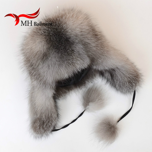 2016 new winter fashion female fox fur hat 100% natural hot warm ear cap ski cap thick warm hat H#1