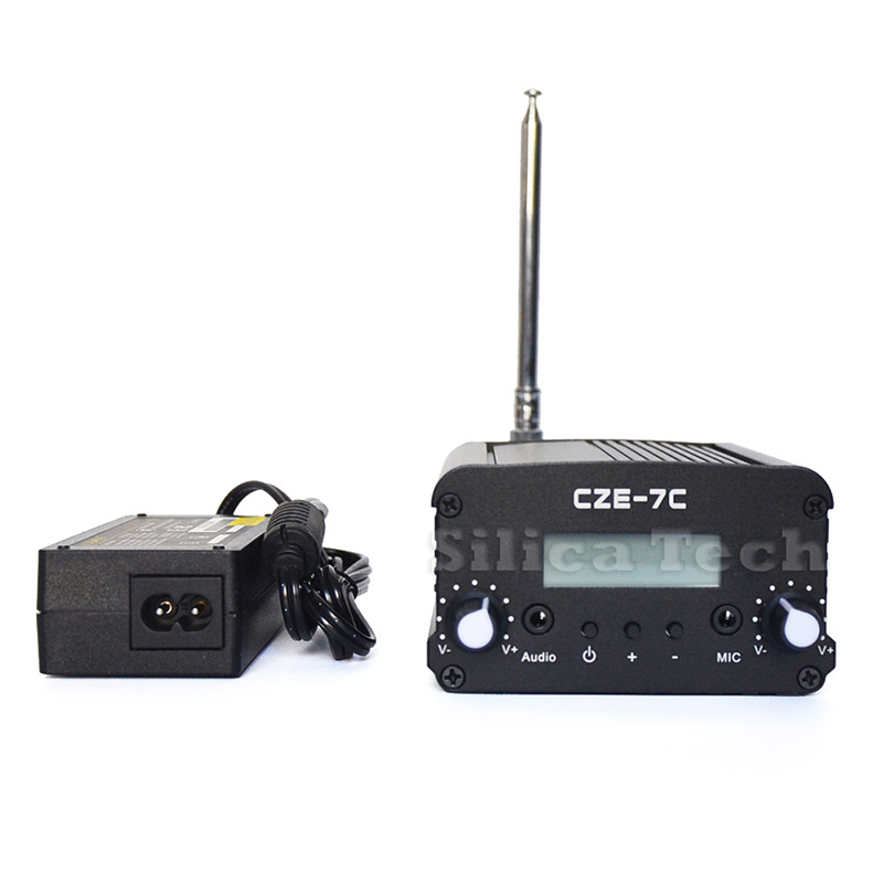 CZE 7C 1 7W FM Stereo FM Transmitter + Power Indoor Antenna Complete Instrument Parts & Accessories     - title=