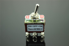 Toowei Switch Momentary Toggle Switch 6pins ON-OFF-ON 15A 250VAC/ 20A 125VAC 2Pieces Free Shippin