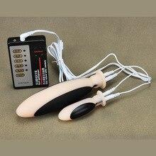 SexShop Новый 2 шт./компл. электрошок анальный вагинальный плагин Buttplug секс-игрушки поддельные Pussy интимные изделия Секс-игрушки для взрослых для мужчин и женщин.