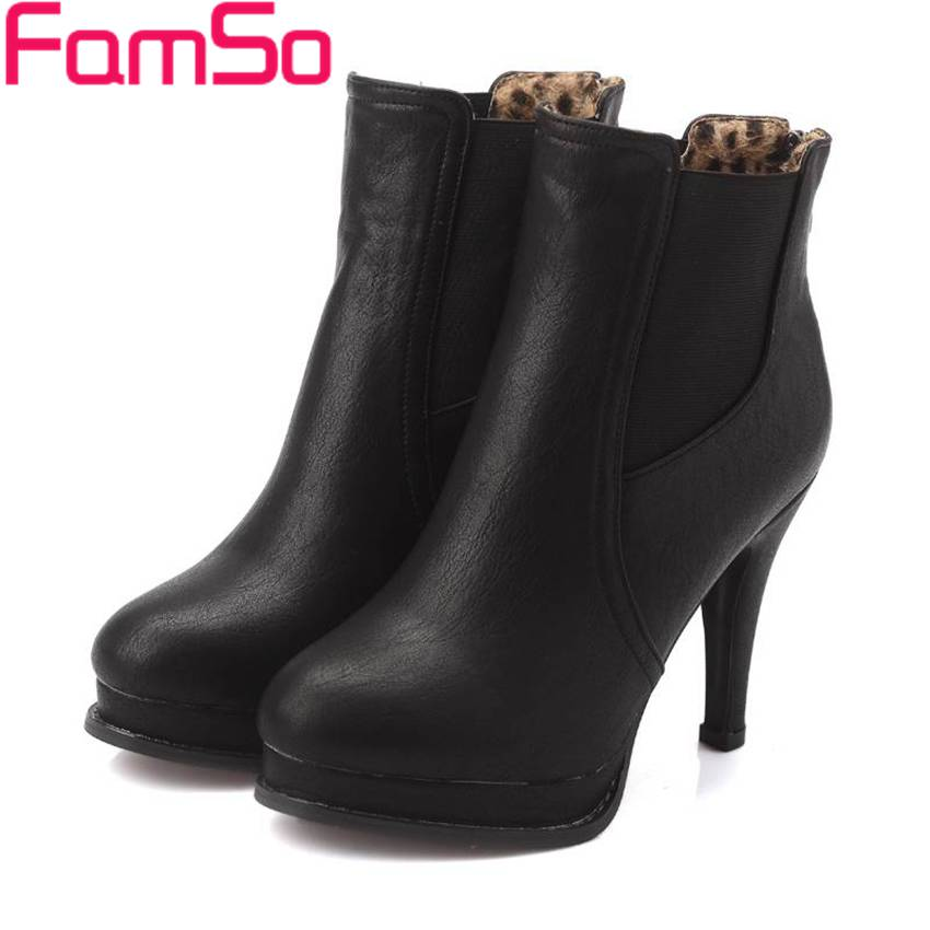 Plus Size34 43 2016 new Sexy font b Women b font boots High Heels Autumn Ankle