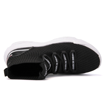 FEOZYZ Shark Sneakers Women Men Knit Upper Breathable Sport Shoes Chunky Shoes High Top Running Shoes For Men Women  2