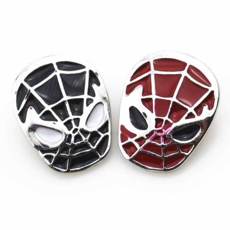 10pcs/lot Enamel <font><b>Spiderman</b></font> <font><b>Mask</b></font> Snap <font><b>Buttons</b></font> for 18mm Diy pendants Snap Bracelet&Bangles DIY Snap Jewelry Charms
