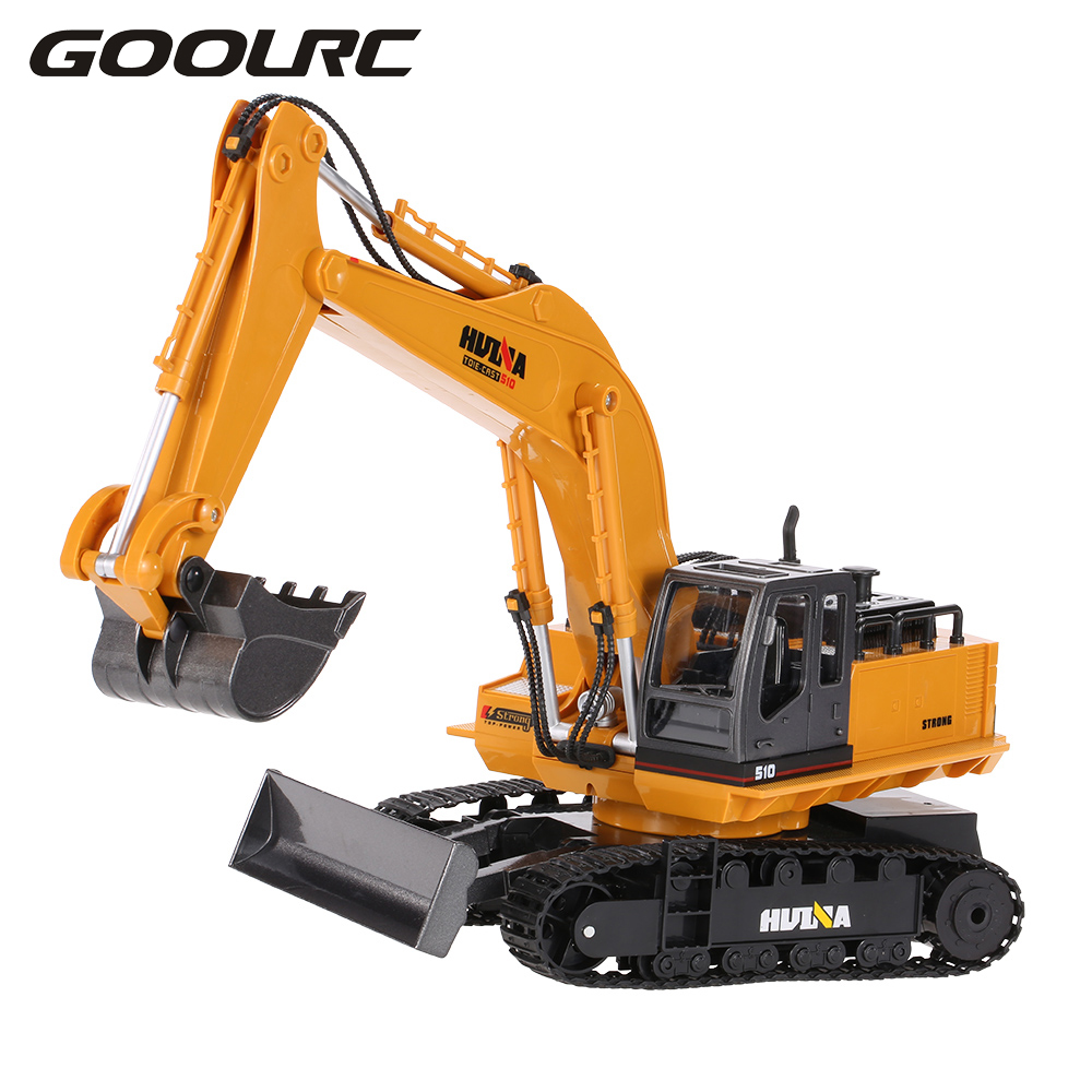 Original TOYS NO.1510 2.4GHz 11CH Alloy Engineering Electronic Excavator Heavy Machinery RC Toys Car Truck huina 1510 rc excavator car 2 4g 11ch metal remote control engineering digger truck model electronic heavy machinery toy