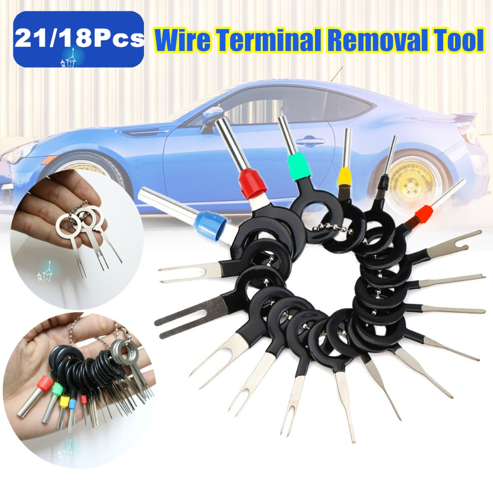 21pcs  Set New Car Terminal Removal Electrical Wiring Crimp