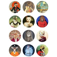 10mm 12mm 14mm 16mm 20mm 25mm 330 12pcs/lot Animals Mix Round Glass Cabochons Jewelry Findings 18mm Snap Button Charm Bracelet