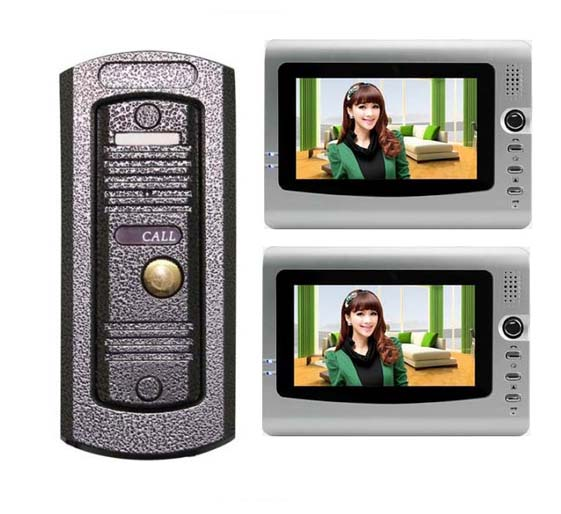 Home safe intercom system , cheapest and top quality 7 VIDOE DOOR PHONE Night vision HD camera 1 to 2