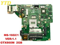 Original for MSI GE60 laptop motherboard ms 16GC MS 16GC1 VER 1.1 GTX860M 2GB tested good free shipping