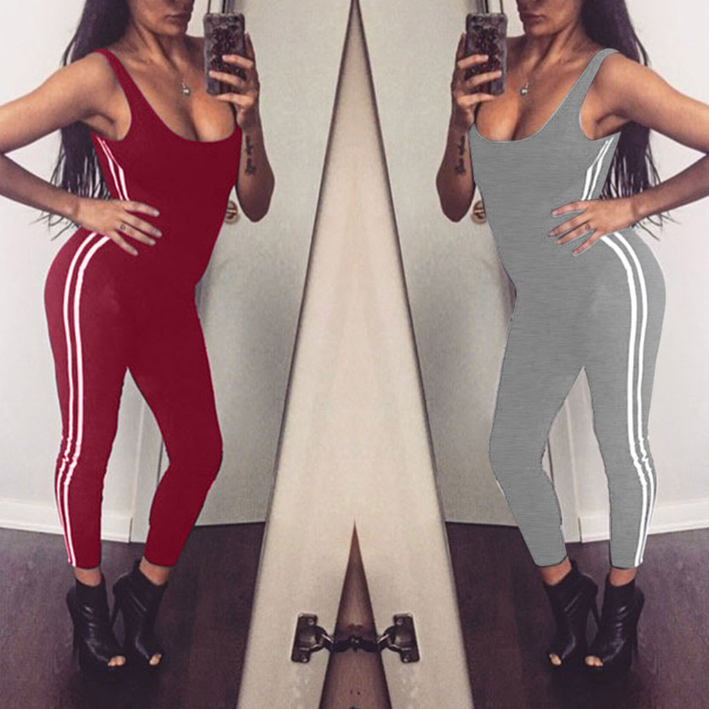 Women Casual Sport Printing Leggings Summer Backless Elasticity Legging Camouflage Fitness Pant Lady Trousers Jumpsuits Rompers
