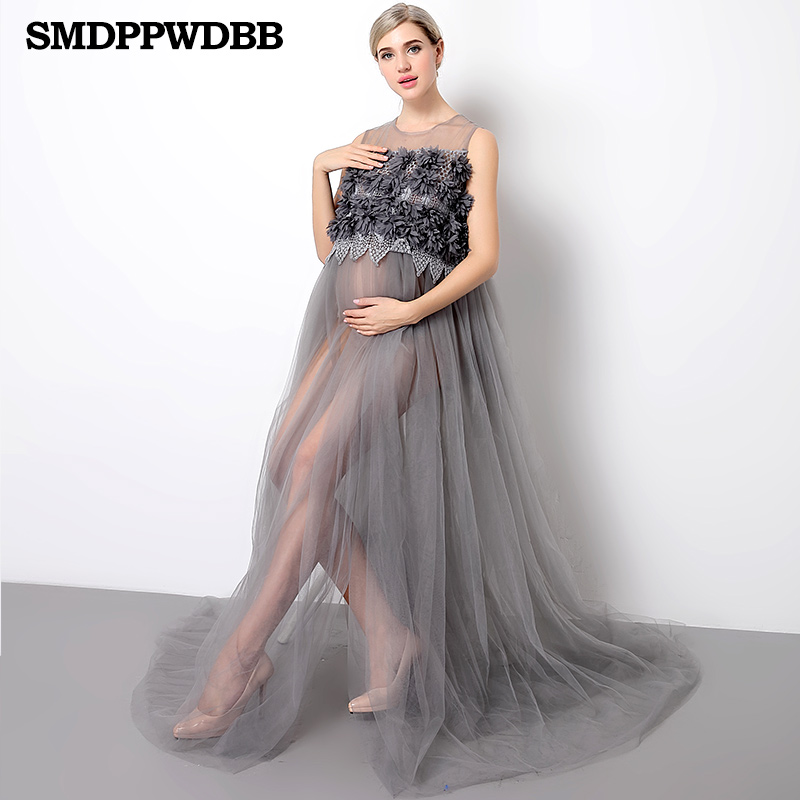 Smdppwdbb Women Maternity Photography Props Pregnancy Dress Plus